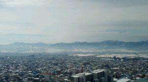霞城セントラル24階から。もうすぐ春ですね。